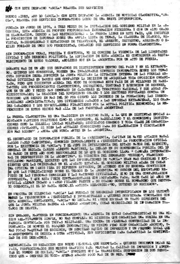 Historia Argentina : Rodolfo Walsh , su Carta Abierta a la
